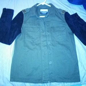 Army fatigue green lieutenants jacket with tassels